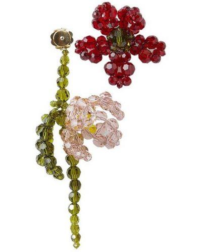 Czerwone kolczyki w kwiaty Simone Rocha
