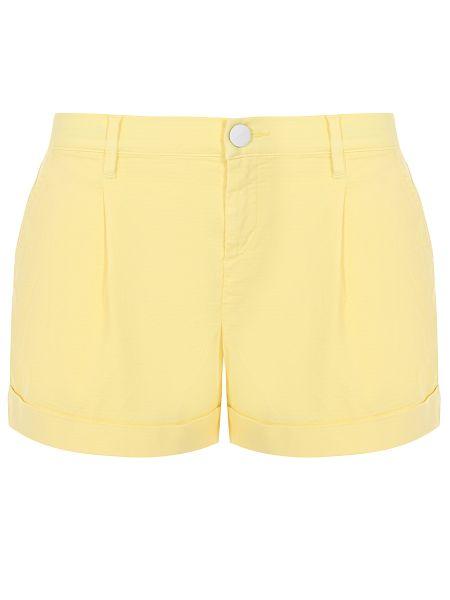 Желтые короткие шорты с воротником с карманами на пуговицах Jacob Cohen