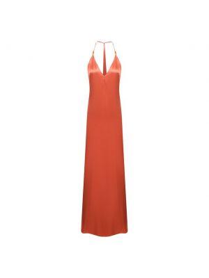Оранжевое платье из вискозы Galvan  London
