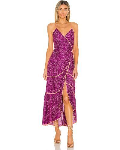 Фиолетовое кожаное платье в горошек Vix Swimwear