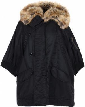 Куртка с капюшоном черная оверсайз Faith Connexion