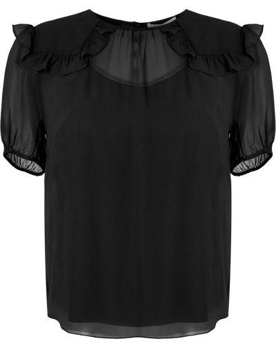 Блузка с коротким рукавом батник для невысоких НК