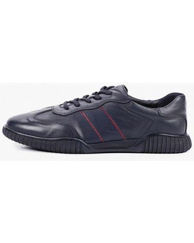 Синие кожаные кроссовки Pierre Cardin