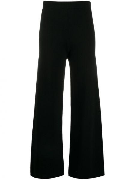Шерстяные черные свободные брюки с поясом свободного кроя D.exterior
