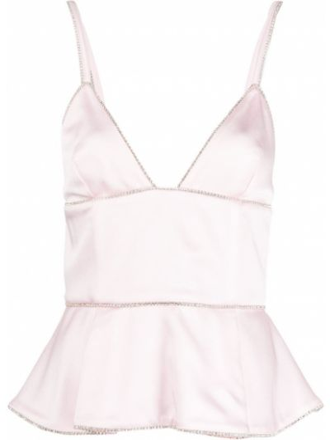 Топ с вырезом - розовый Patrizia Pepe