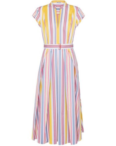 Ватное хлопковое платье миди в полоску Loro Piana