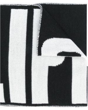 Шарф черный вязаный Philipp Plein