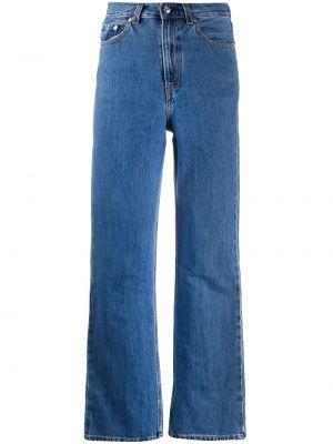Синие с завышенной талией широкие джинсы с карманами Levi's®
