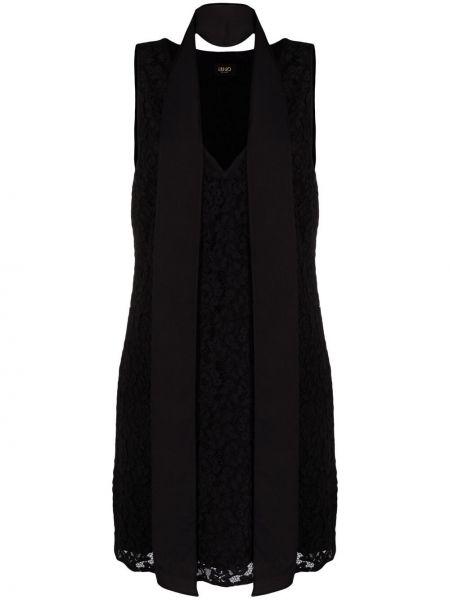 Złota sukienka koronkowa - czarna Liu Jo