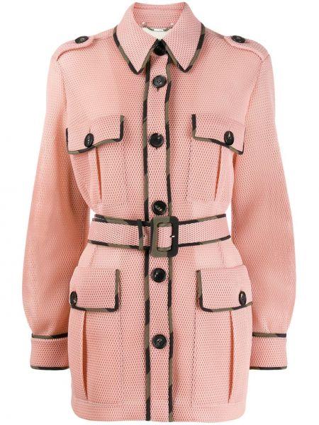 Куртка розовая на пуговицах Fendi