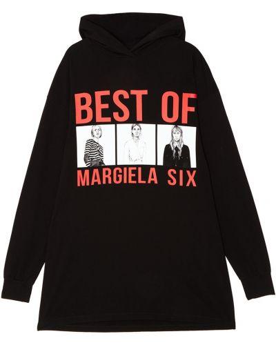 Платье мини с капюшоном платье-толстовка Mm6 Maison Margiela