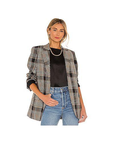 Шерстяной коричневый пиджак с карманами Theory