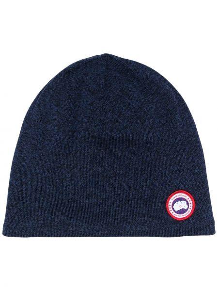 Шерстяная шапка бини - синяя Canada Goose