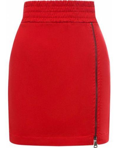 Джинсовая юбка - красная No. 21