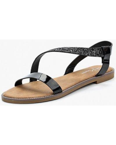 Черные сандалии Sergio Todzi