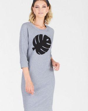 Платье серое платье-толстовка Eliseeva Olesya