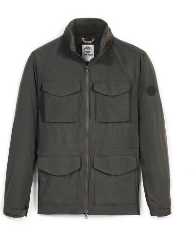 Хлопковая серая куртка с карманами Timberland