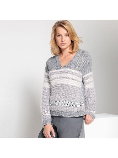 Пуловер с V-образным вырезом с декольте Anne Weyburn
