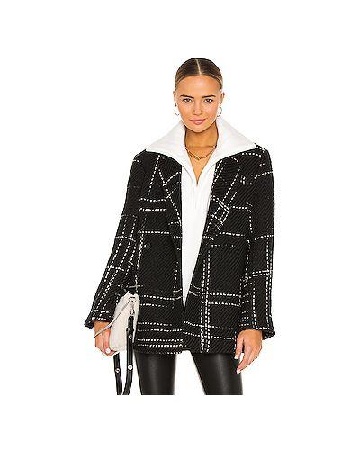 Акриловый черный пиджак с карманами с запахом Anine Bing