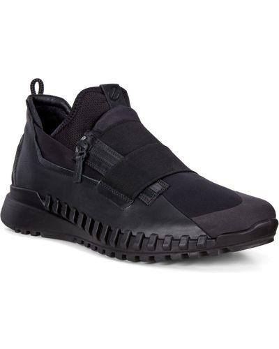 Модные черные кроссовки на молнии Ecco