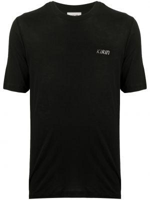 Czarny t-shirt z printem krótki rękaw Kirin