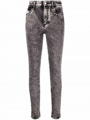 Облегающие серые джинсы стрейч классические Alessandra Rich