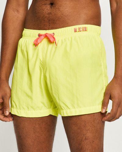 Żółte spodenki do pływania Moschino Underwear