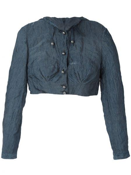 Короткая куртка мятная с манжетами на пуговицах Romeo Gigli Pre-owned