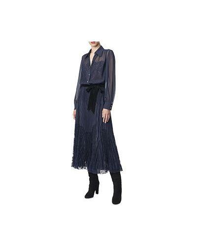 Синее вечернее платье Luisa Spagnoli