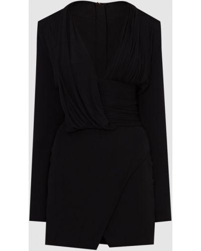 Платье мини - черное Balmain