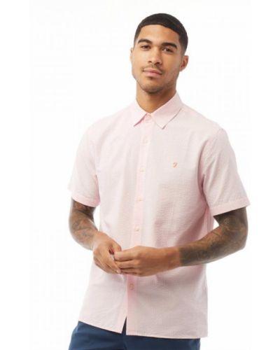 Рубашка с коротким рукавом - розовая Farah