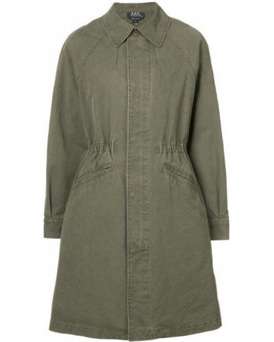 Стеганое пальто классическое с воротником A.p.c.
