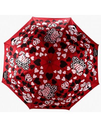 Красный зонт-трость Moschino