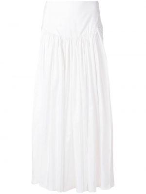 Расклешенная юбка миди в рубчик Stella Mccartney