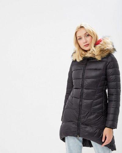 Утепленная куртка демисезонная черная Paccio
