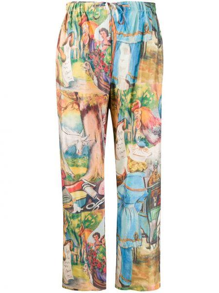Нейлоновые прямые брюки с поясом Soulland