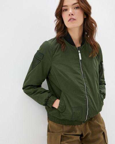 Расклешенная теплая свободная утепленная куртка хаки Finn Flare