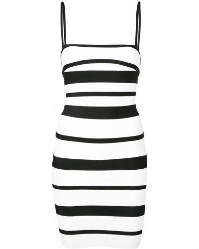 Платье мини короткое - белое Herv Lger