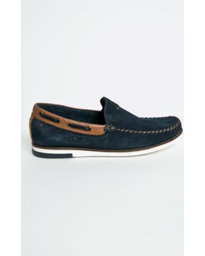 Кожаные туфли текстильные замшевые Wrangler