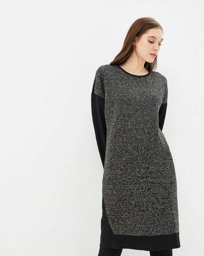 Платье осеннее черное Max&style
