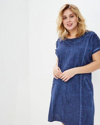 Повседневное платье весеннее синее Milanika