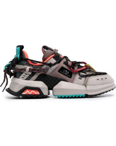 Кожаные кроссовки - серые Li-ning
