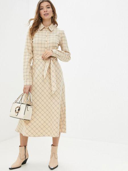Платье платье-рубашка желтый Sela