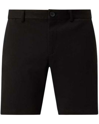 Czarne szorty chinosy z wiskozy zapinane na guziki Jack & Jones