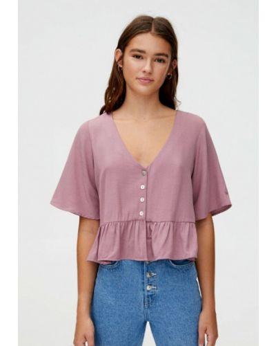 Блузка с коротким рукавом розовая турецкий Pull&bear
