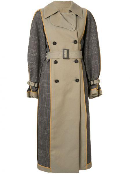 Klasyczny płaszcz z klapą zielony Enfold