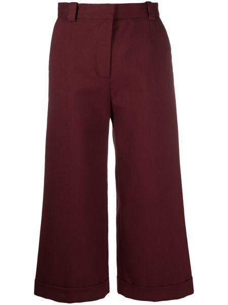 Хлопковые укороченные брюки с карманами свободного кроя See By Chloé
