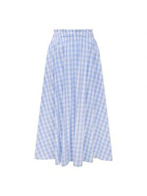 Хлопковая синяя юбка Pietro Brunelli