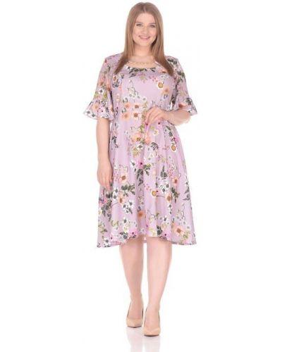 Приталенное повседневное платье с оборками Blagof