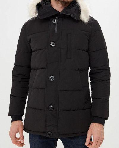 Зимняя куртка утепленная черная Just Key